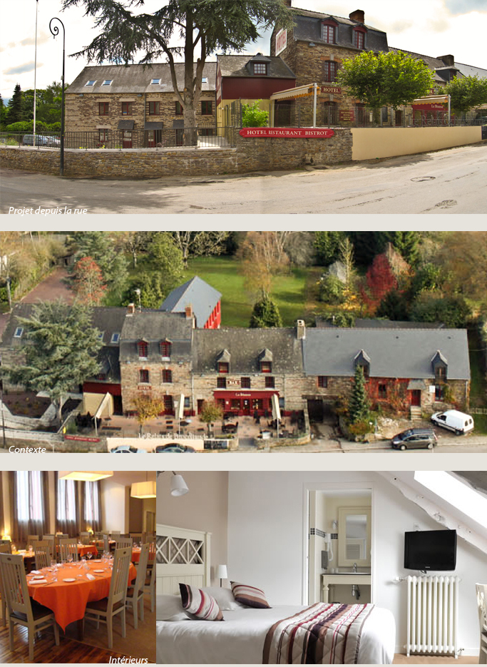 Le Relais de Brocéliande, Rénovation d'un Restaurant & Hôtel et spa ***  à Paimpont (35)