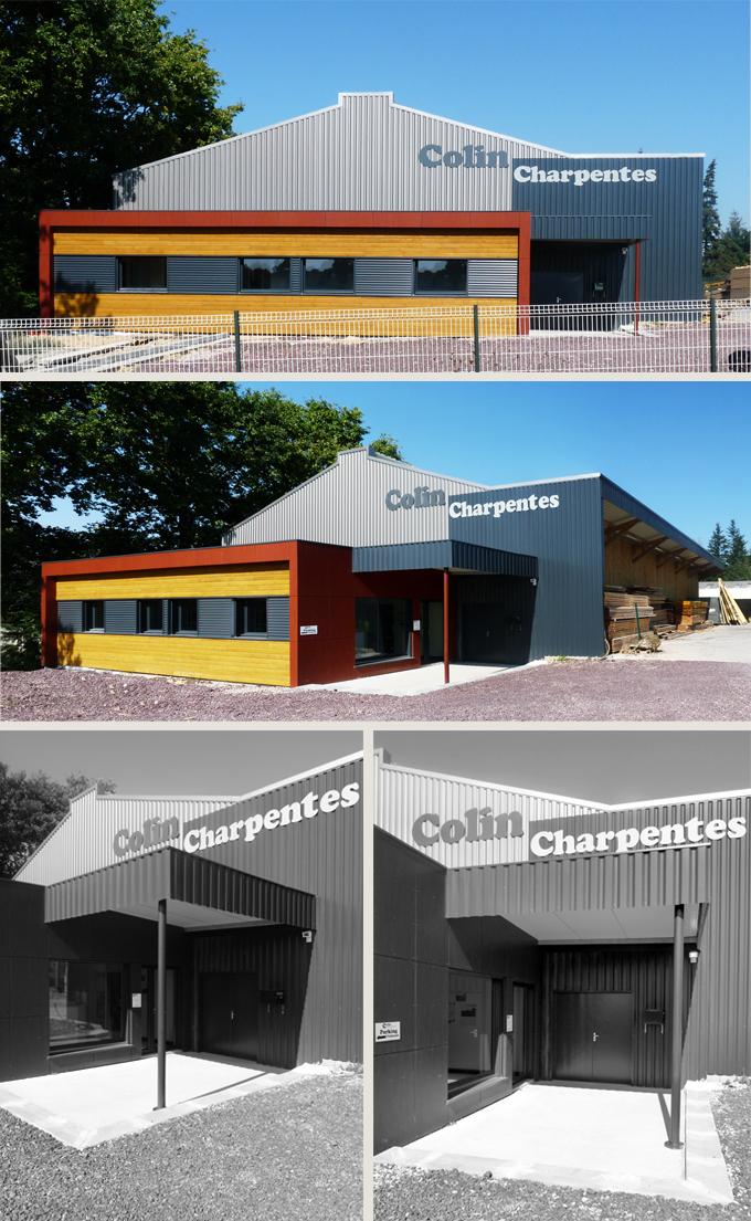 Bureaux & Atelier de COLIN Charpentes à Maxent (35)