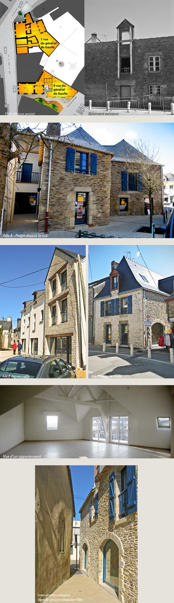 Création de 6 commerces & 7 logements en centre de bourg à Sarzeau (56)