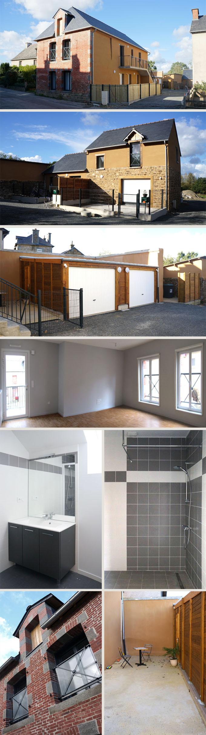 3 logements BBC en rénovation + 1 neuf et intervention urbaine à Guipel (35)