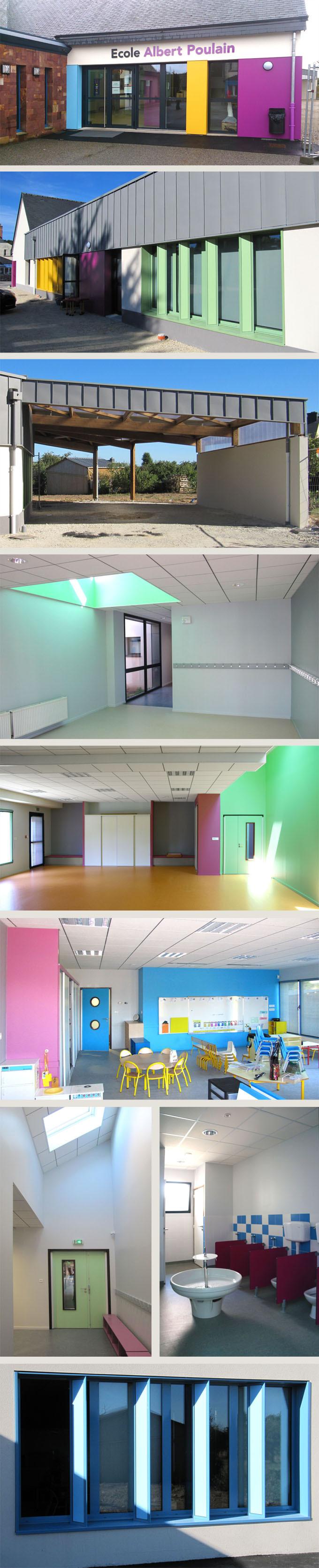 Ecole publique primaire et maternelle de Mernel (35) réhabilitation et extension BBC (RT 2012)