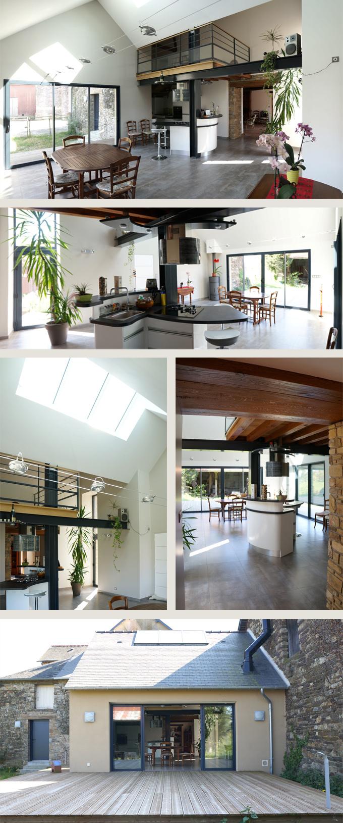 Extension et rénovation d'une maison de bourg à Maxent (35)