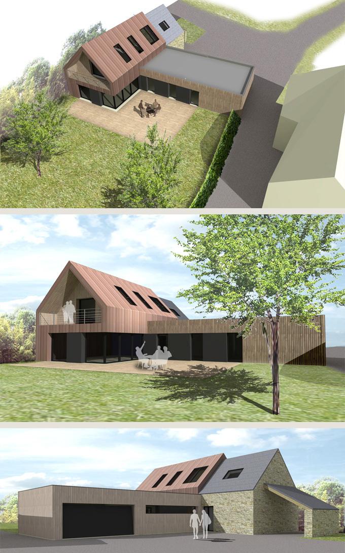 Construction Du0027une Maison Dans Le Prolongement Du0027une Dépendance En Pierres  Existante Vannes (56)