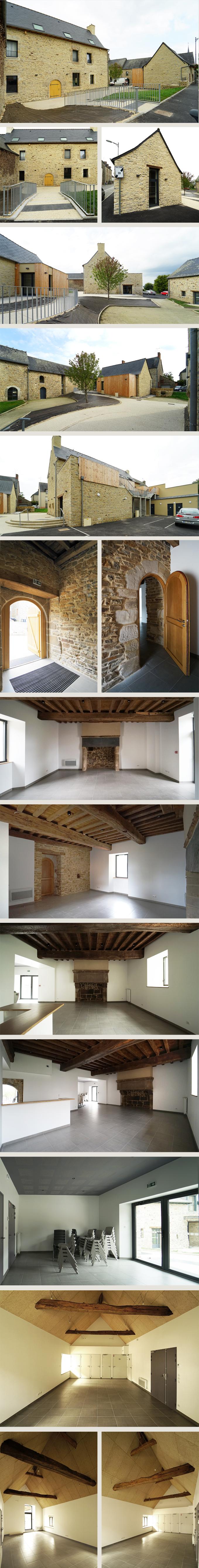 Rénovation d'un manoir; création de salles associatives et de musique + 3 logements à La Bouëxière (35)