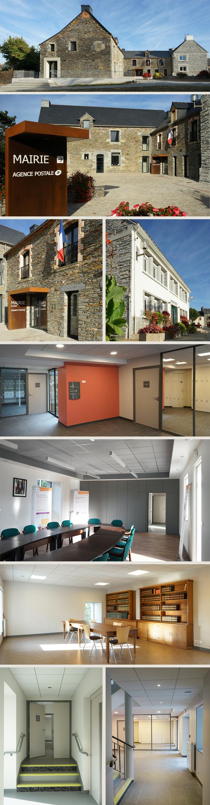 Mairie + Médiathèque en réhabilitation SAINT MARTIN SUR OUST (56200)